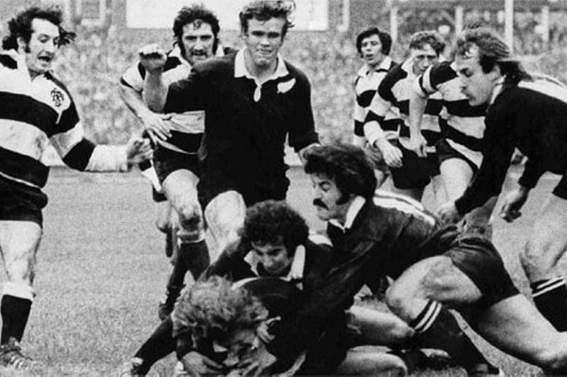 """John Dawes era in campo in Barbarians-All Blacks del 1973, quando la selezione a inviti battè la Nuova Zelanda grazie anche alla """"meta del secolo"""""""