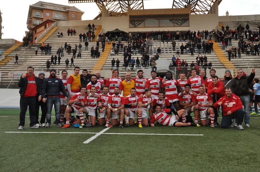 Esultanza Cus Genova Rugby