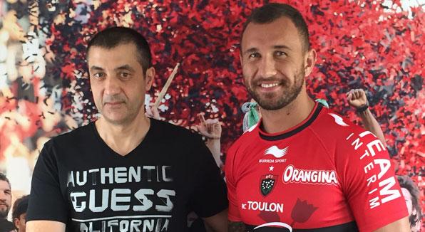 Quade Cooper e Mourad Boudjellal