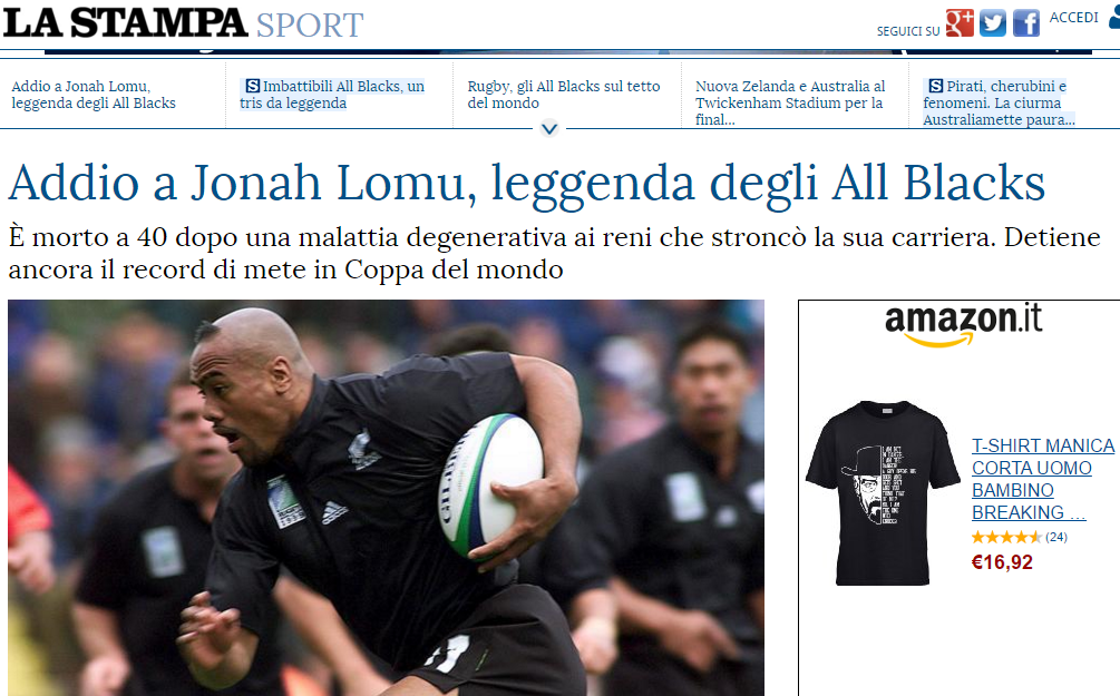 La Stampa Lomu