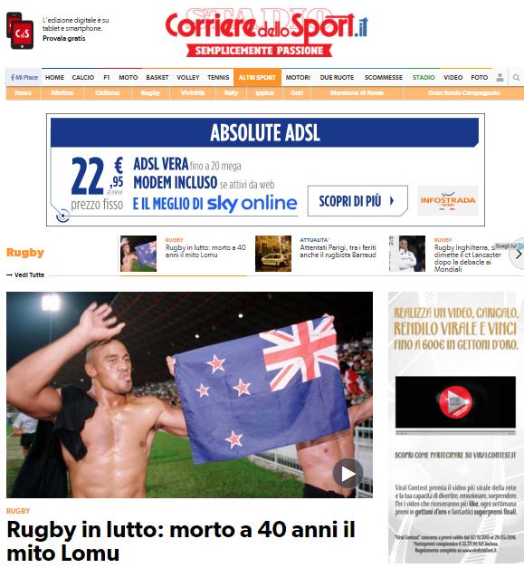 Lomu Corriere Sport