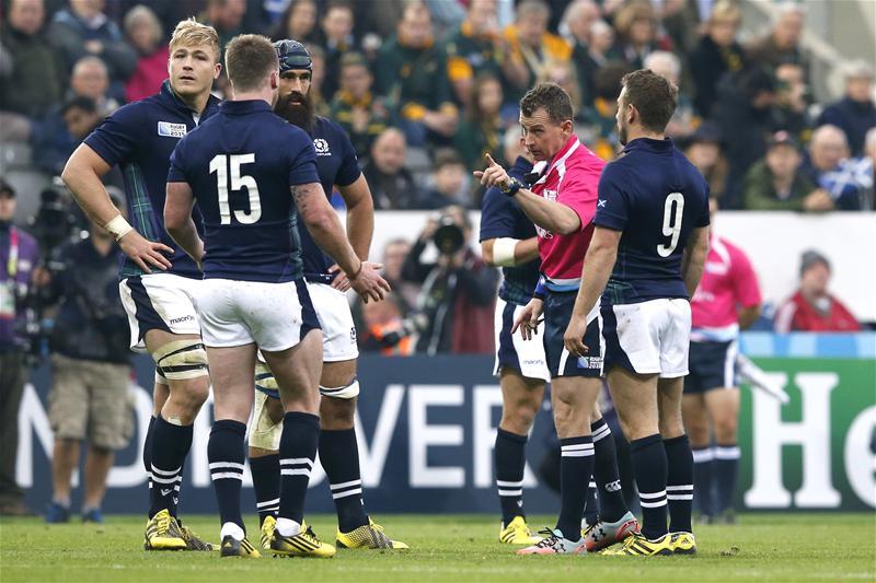hogg nigel owens arbitro Rugby