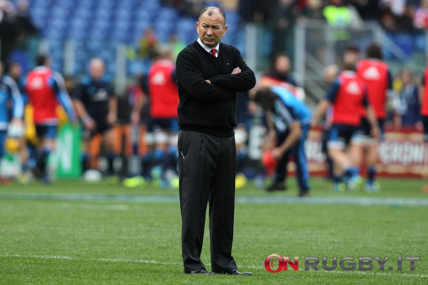 L'allenatore dell'Inghilterra Eddie Jones ph. Sebastiano Pessina