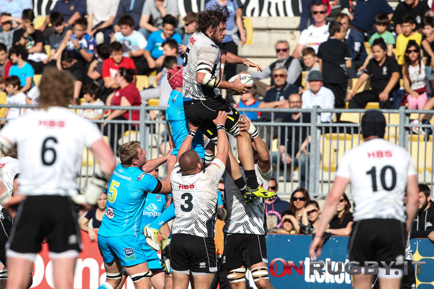 zebre rugby ulster touche