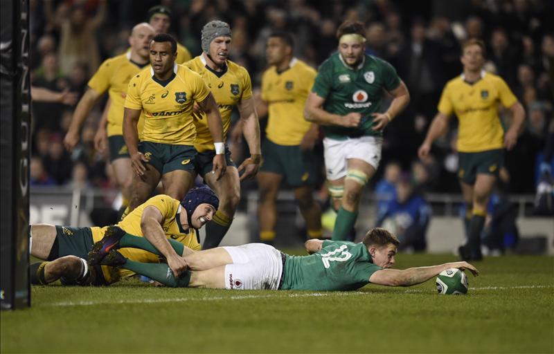 irlanda australia test match