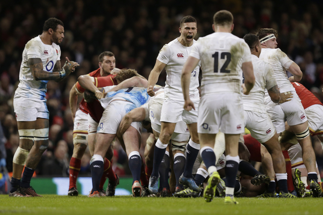 England's Ben Youngs celebrates