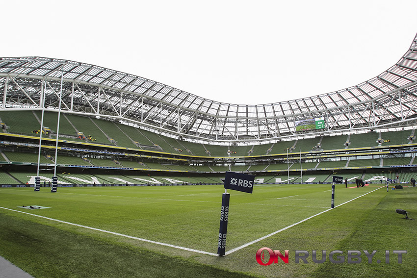 Sei Nazioni 2020: L'Aviva Stadium sarà vuoto per Irlanda-Italia ph. Sebastiano Pessina