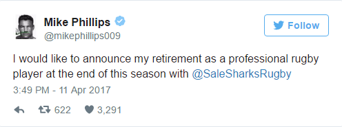 Phillips to retire at season s end   Planet Rugby   Planet Rugby