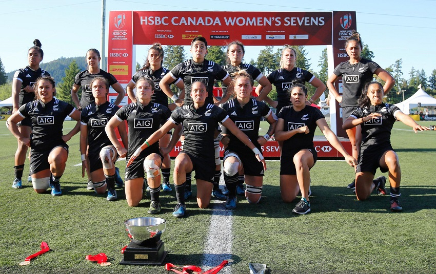 Black Ferns Sevens haka Langford Canada 7S