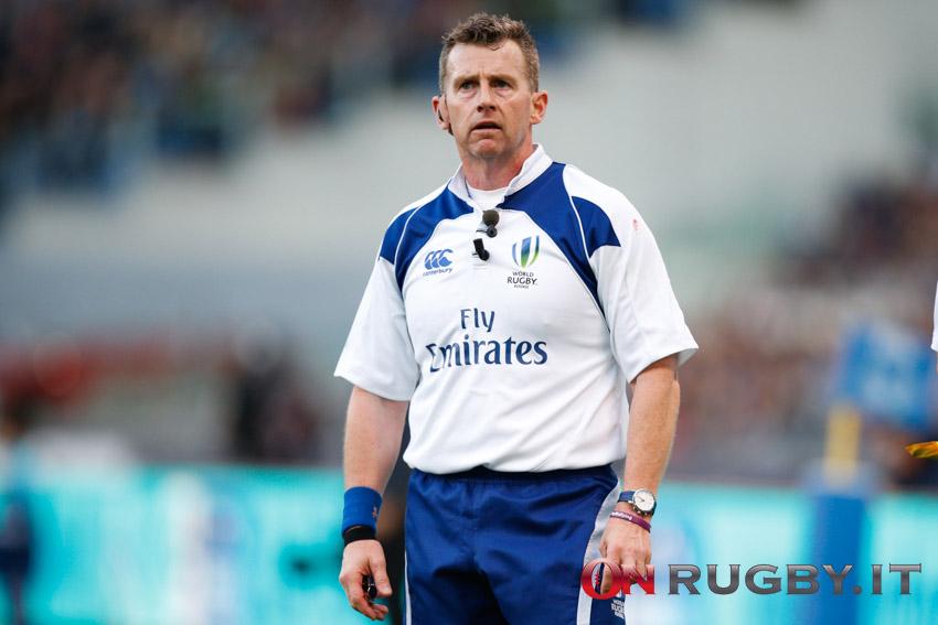Nigel Owens, 49enne gallese, arbitro internazionale dal 2003 ph. Sebastiano Pessina