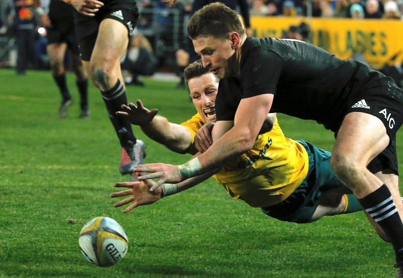 rugby championship australia nuova zelanda all blacks barrett foley