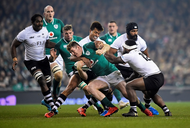 irlanda fiji test match rugby