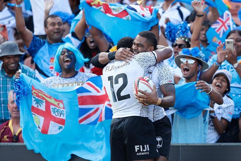 Fiji festeggia ad Hamilton, Nuova Zelanda - Sevens World Series