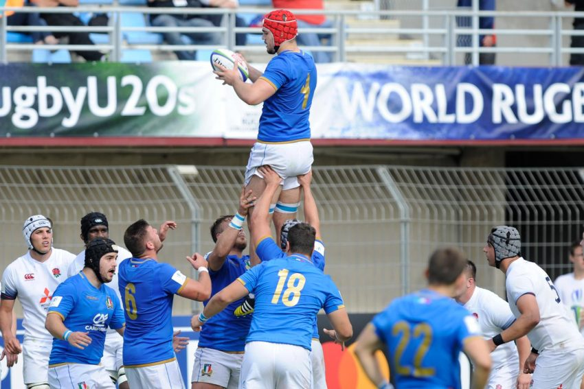 La Nazionale Italiana Under 20 ph. Pascal Rodriguez / World Rugby