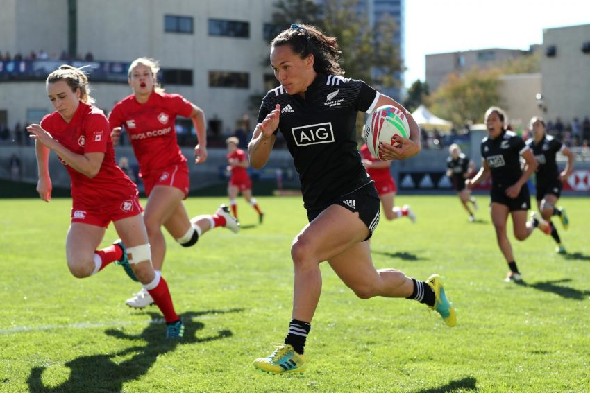 Black Ferns Sevens Portia Woodman vs Canada in Glendale Colorado USA ph. World Rugby