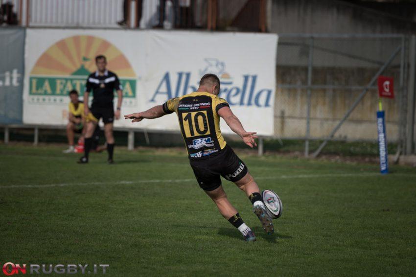 Top10: la partita del prossimo turno tra Viadana e Mogliano (qui in foto Ormson, attualmente a Mogliano ma prima a Viadana) è in dubbio. ph. Tommaso Del Panta