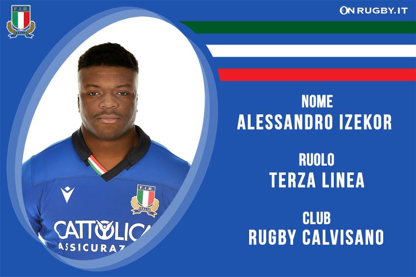 Alessandro Izekor-rugby-nazionale under 20