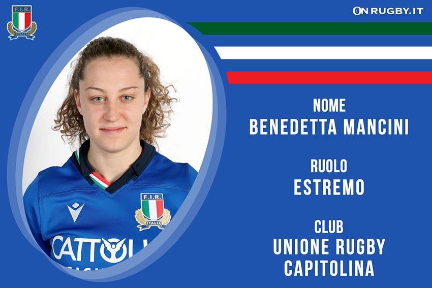 Benedetta Mancini-Rugby-Nazionale Femminile