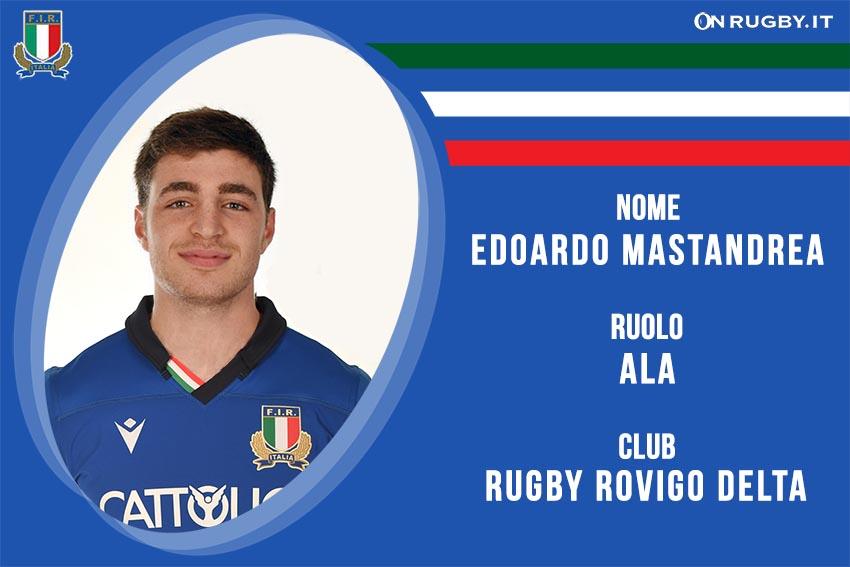 Edorado Mastandrea -rugby-nazionale under 20