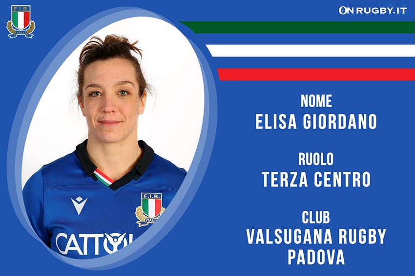 Elisa Giordano-Rugby-Nazionale Femminile
