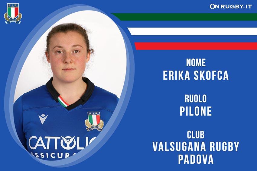 Erika Skofca-Rugby-Nazionale Femminile
