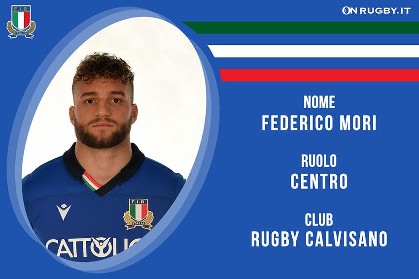 Federico Mori rugby Nazionale Italiana e Calvisano Rugby
