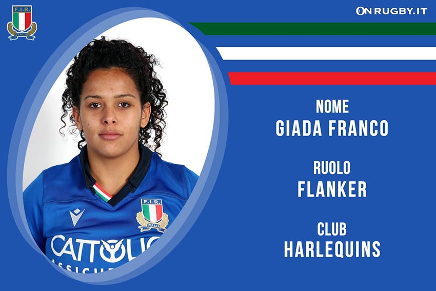 Giada Franco-Rugby-Nazionale Femminile
