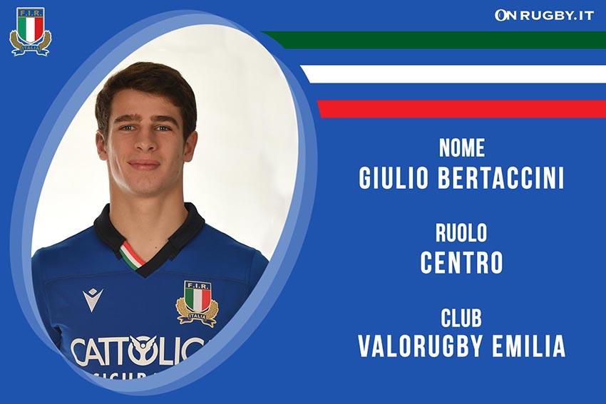 Giulio Bertaccini-rugby-nazionale under 20