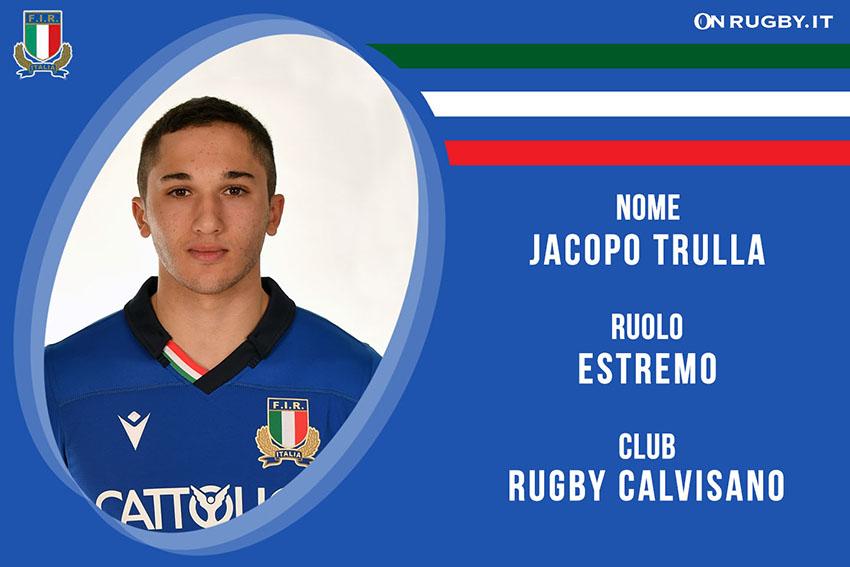 Jacopo Trulla-rugby-Nazionale italiana Rugby e Calvisano