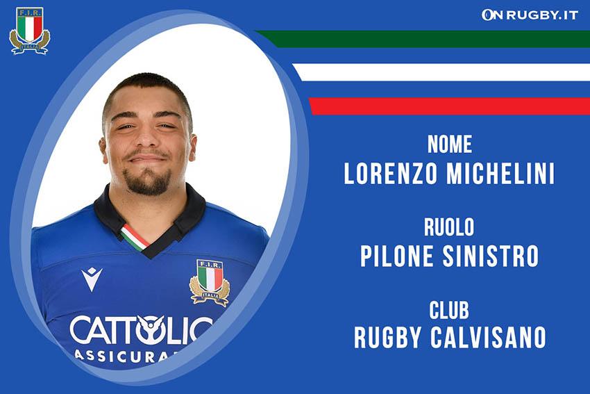 Lorenzo Michelini-rugby-nazionale under 20
