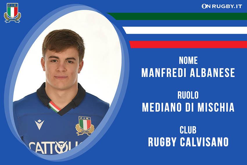 Manfredi Albanese rugby Nazionale italiana under 20