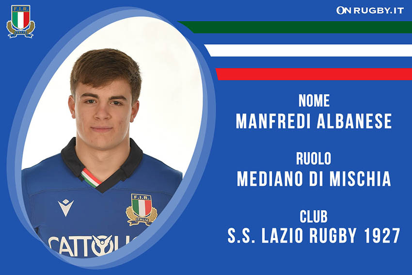 Manfredi Albanese-rugby-nazionale under 20