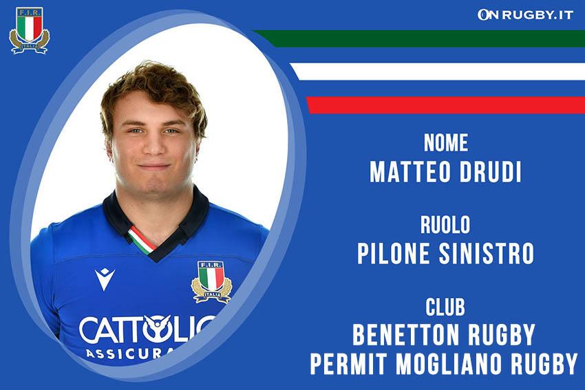 Matteo Drudi rugby nazionale under 20