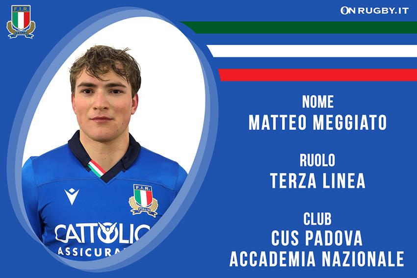 Matteo Meggiato-rugby-nazionale under 20