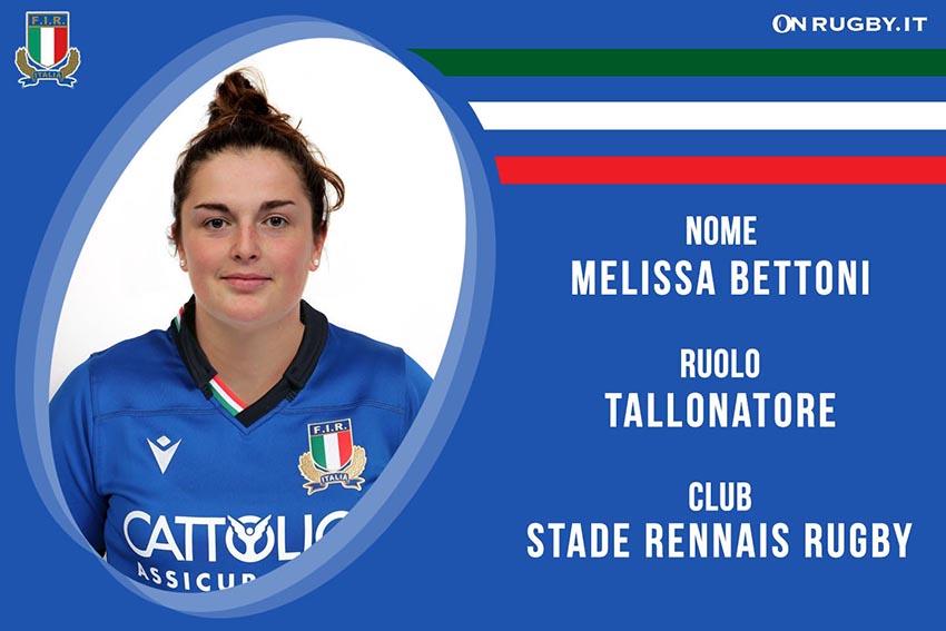 Melissa Bettoni-Rugby-Nazionale Femminile