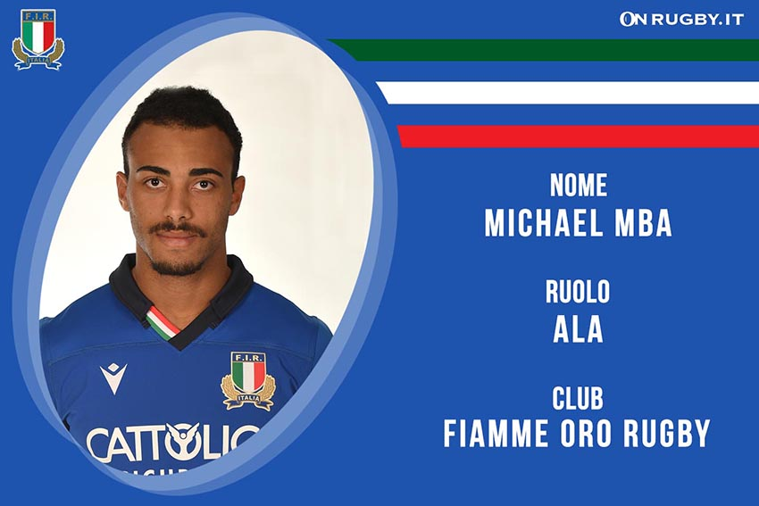 Michael Mba-rugby-nazionale under 20