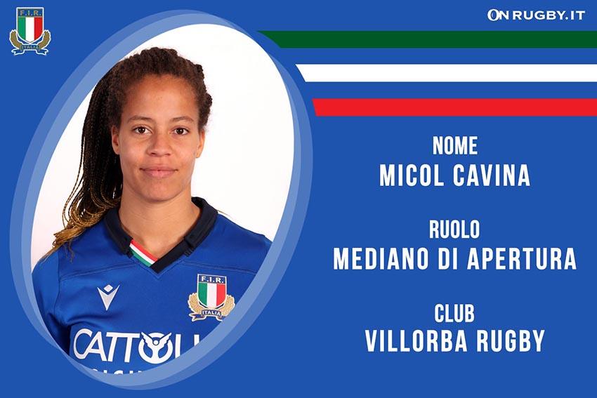 Micol Cavina-Rugby-Nazionale Femminile