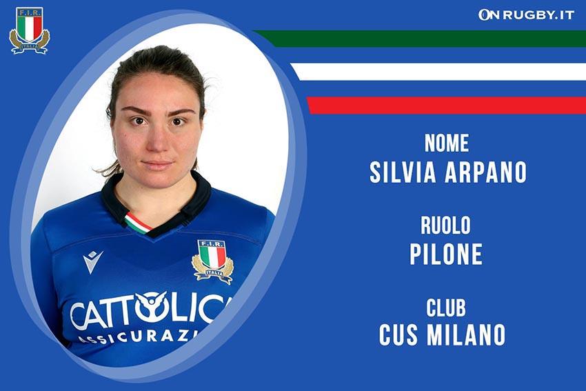 Silvia Arpano-Rugby-Nazionale Femminile