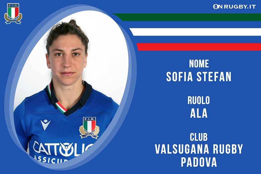 Sofia Stefan-Rugby-Nazionale Femminile