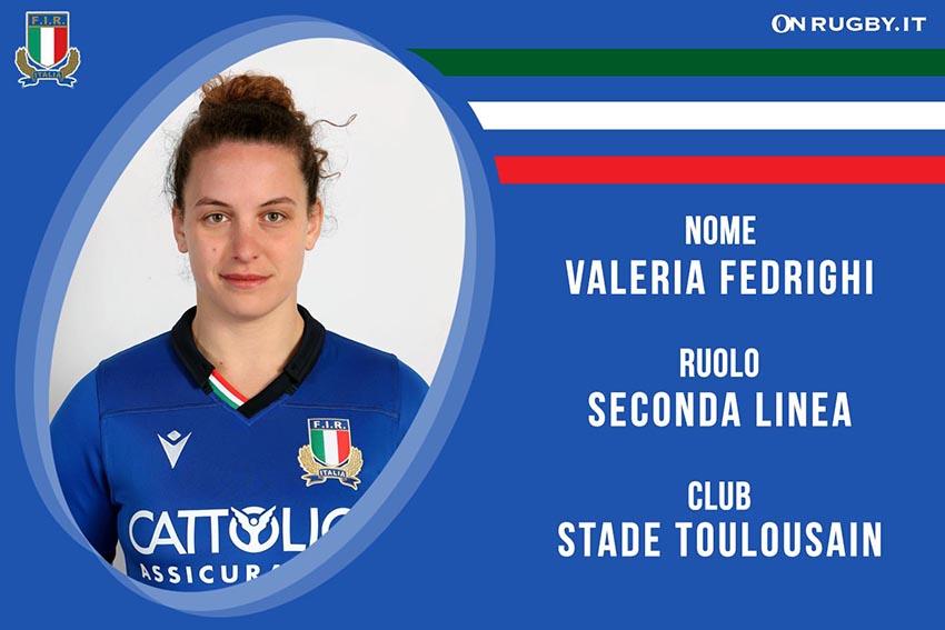 Valeria Fedrighi-Rugby-Nazionale Femminile