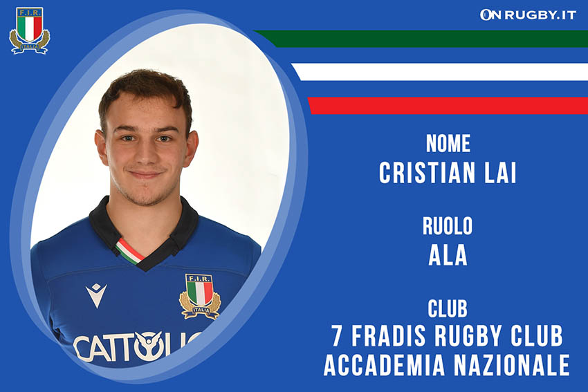 Cristian Lai- rugby- nazionale under 20