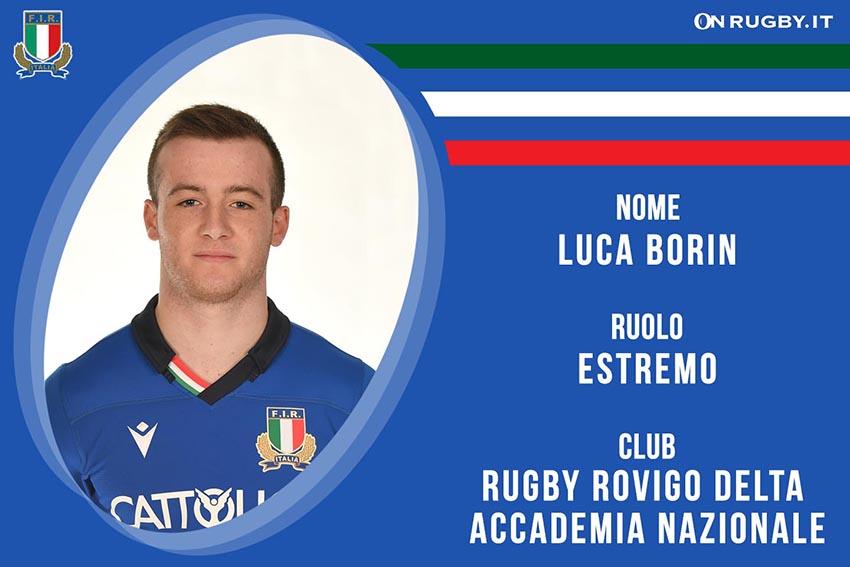 Luca Borin-rugby-nazionale under 20