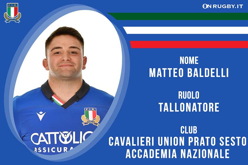 Matteo Baldelli-rugby-nazionale under 20