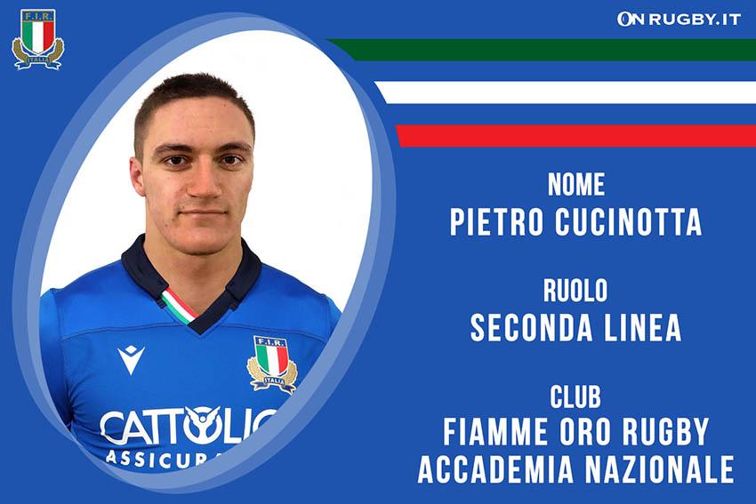 Pietro Cucinotta-rugby-nazionale under 20
