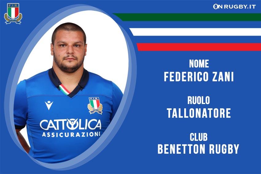 Federico zani nazionale italiana rugby - Italrugby