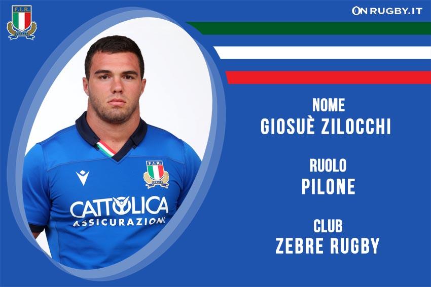 Giosuè Zilocchi nazionale italiana rugby - Italrugby