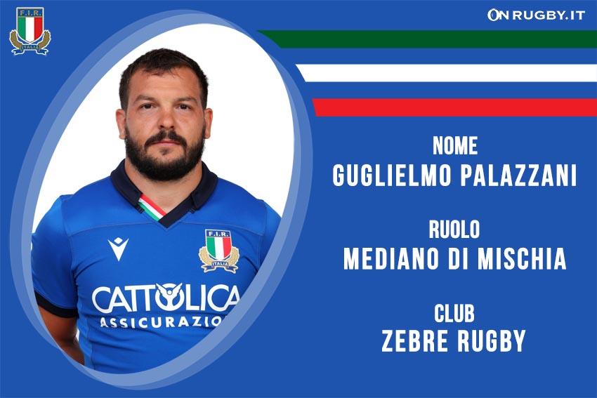 Guglielmo Palazzani nazionale italiana rugby - Italrugby