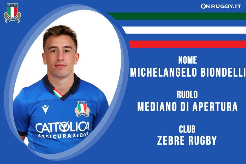 Michelangelo Biondelli Nazionale Italiana Rugby - Italrugby FIR