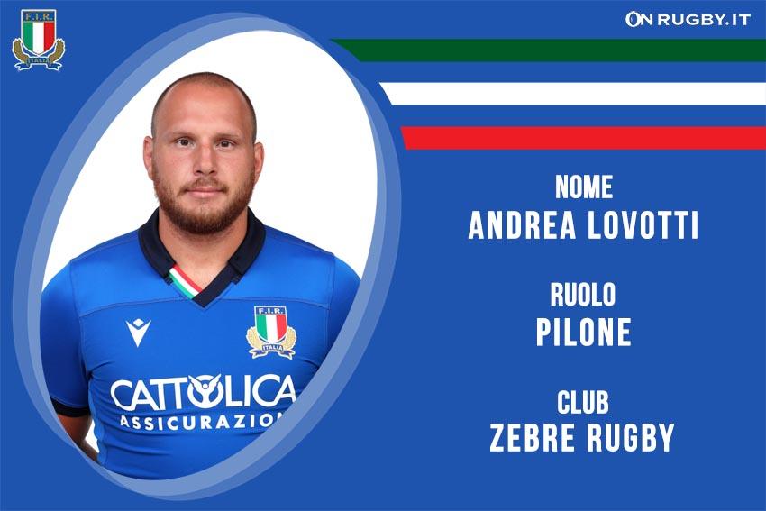 Andrea Lovotti nazionale italiana rugby - Italrugby