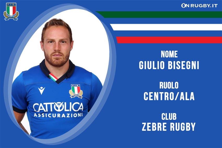 Giulio Bisegni - nazionale italiana rugby - Italrugby